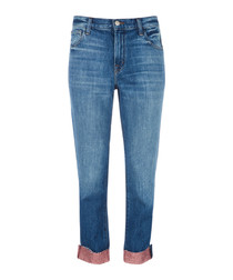 Johnny rose-gold mid-rise boyfit jeans