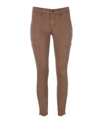 Skinny Utility brown sugar skinny jeans