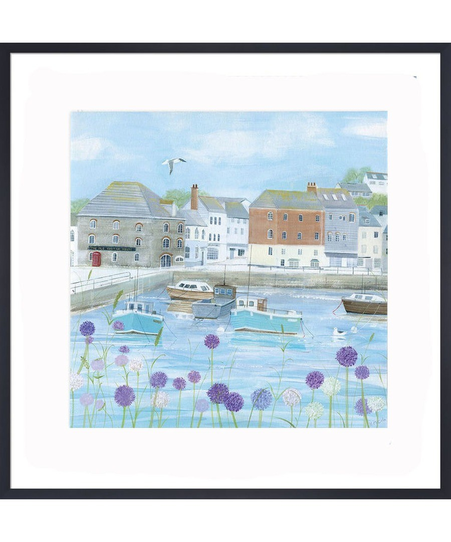 Padstow Flowers Art Print by Hannah Cole Sale - The Art Guys