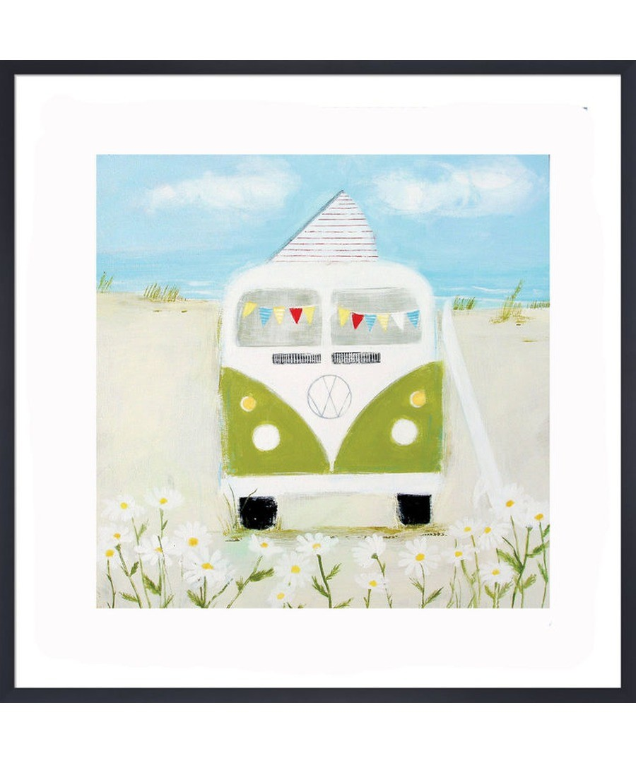 Green Camper Art Print by Hannah Cole Sale - The Art Guys