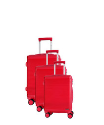3pc redhill coral suitcase set