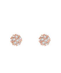 14k rose gold-plated stud earrings