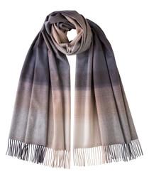 Mauve pure cashmere scarf