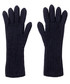 Midnight pure cashmere ribbed gloves Sale - Johnston's of Elgin Sale