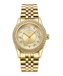 Carina 18k gold-plated steel watch