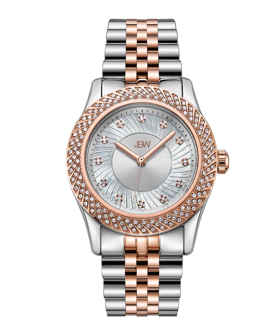 Carina 18k rose gold-plated steel watch Sale - jbw