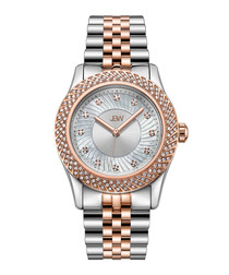 Carina 18k rose gold-plated steel watch