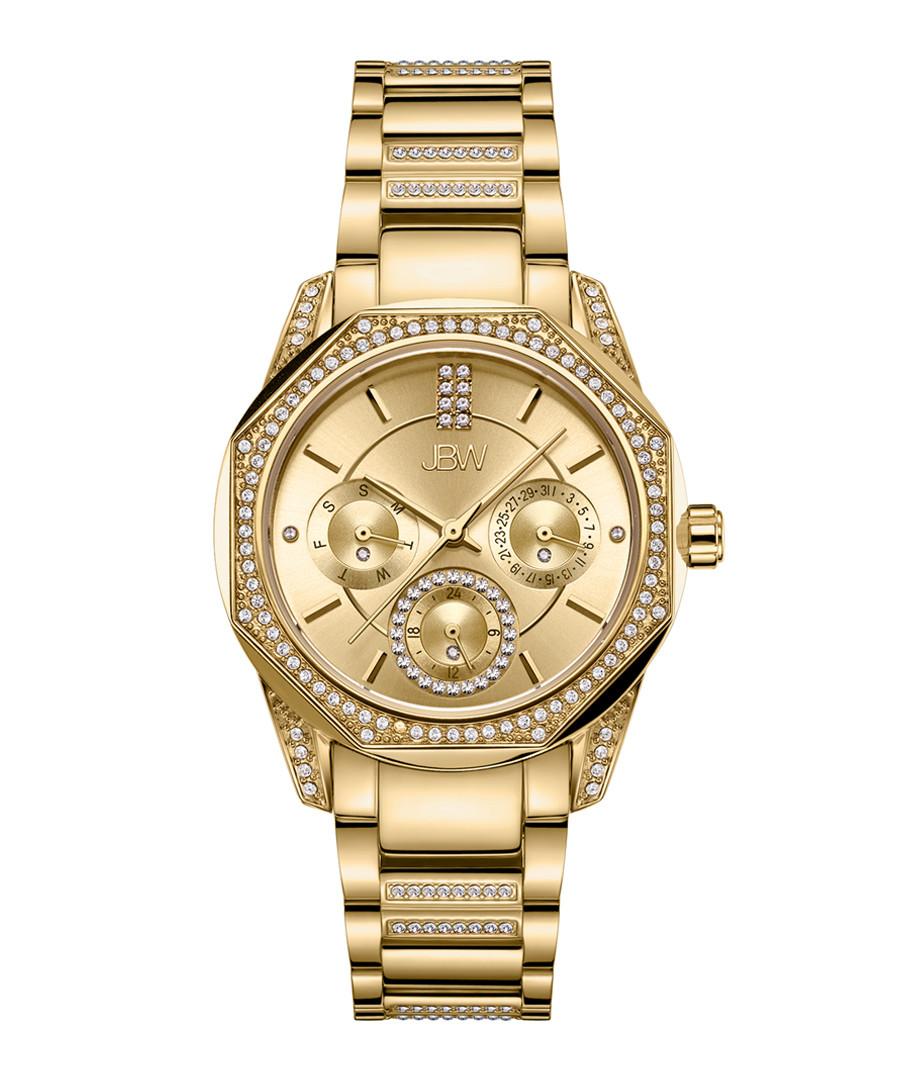 Marquis 18k gold-plated steel watch Sale - jbw