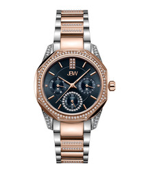 Marquis 18k rose gold-plated steel watch