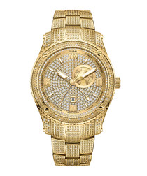 Jet setter GMT 18k gold-plated steel watch