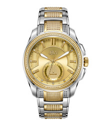 Prince 18k gold-plated & silver-tone steel watch