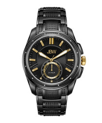 Prince black ion-plated steel watch