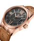 Bond 18k rose-plated tan leather watch Sale - jbw Sale