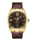 Bond 18k gold-plated brown leather watch Sale - jbw Sale