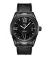Bond black ion-plated leather watch Sale - jbw Sale