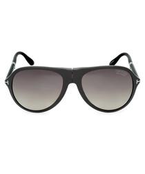 Beige horn & grey gradient sunglasses