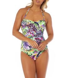 Amazonite bandeau swimsuit