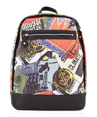 22c0845aa82 protest collage black leather backpack Sale - Vivienne Westwood Sale