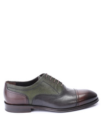 Contrast leather Oxford shoes