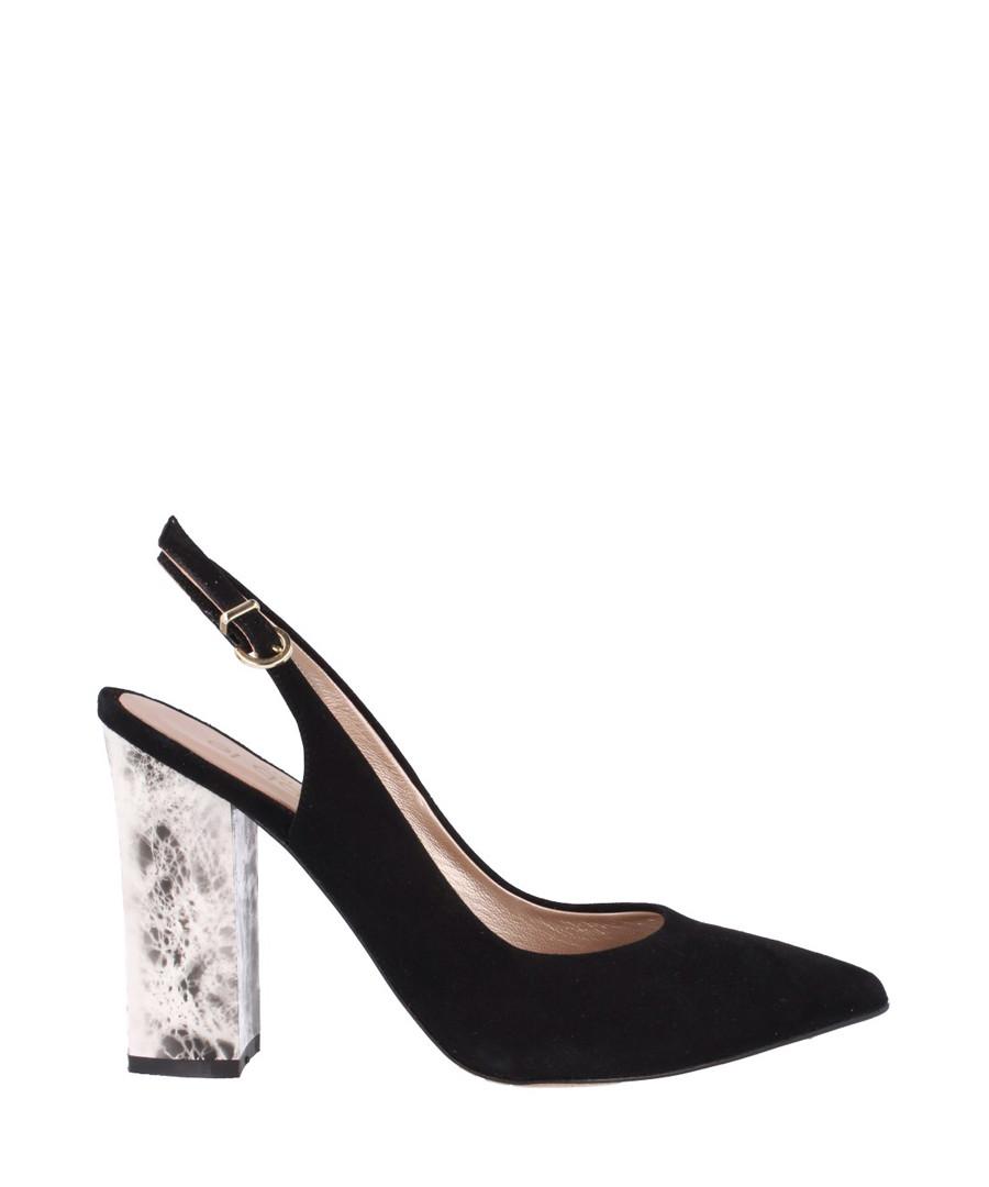 Black suede slingback heels Sale - el dantes