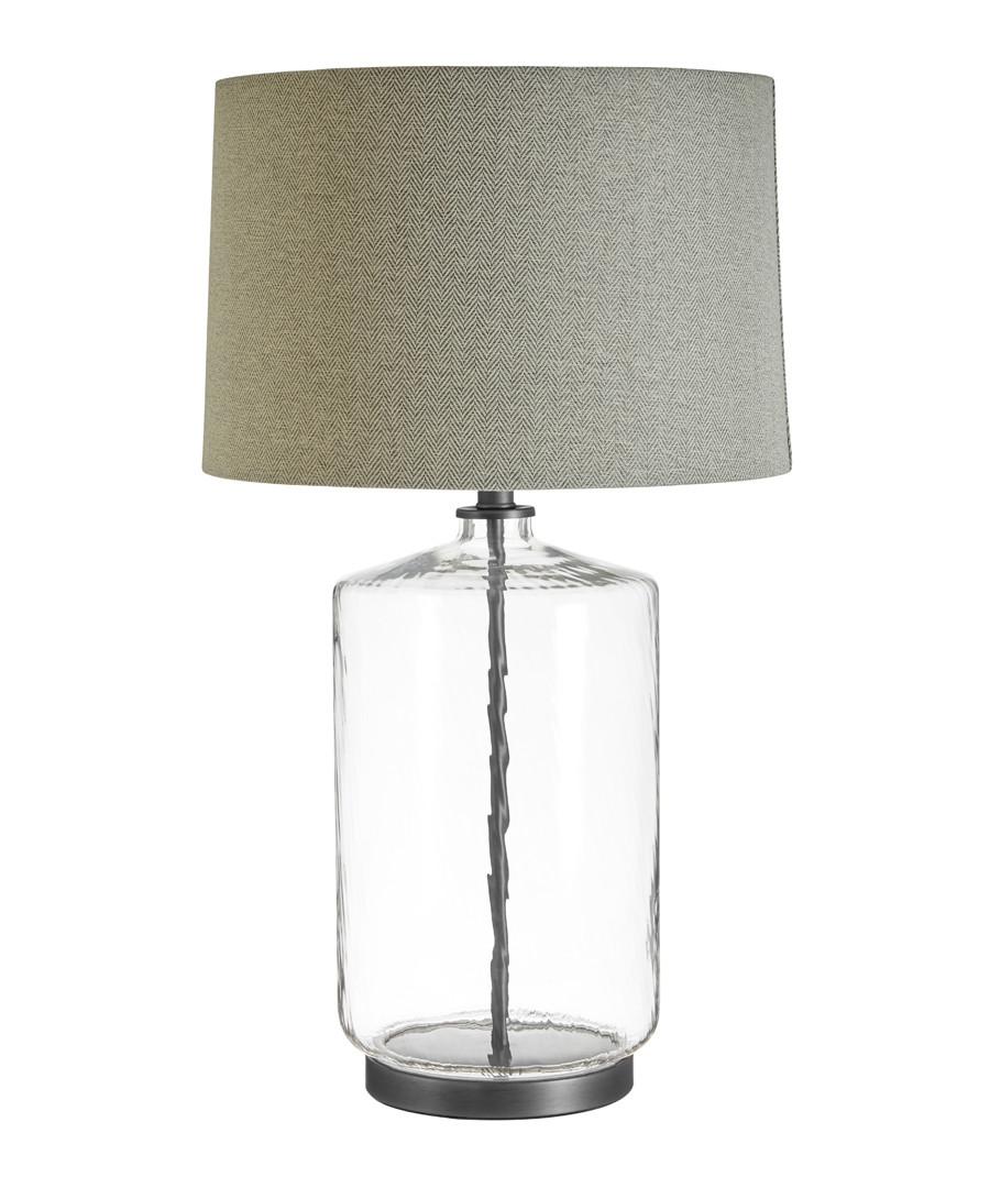 Unita glass & grey table lamp Sale - premier