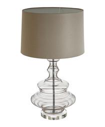 Urania glass & taupe table lamp