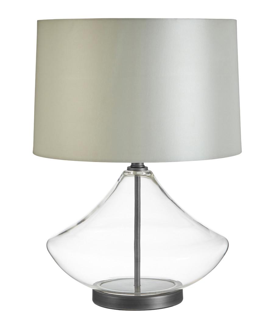 Usha glass & grey table lamp Sale - premier