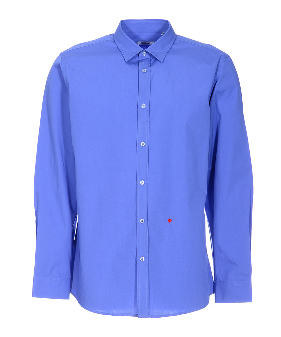 Blue stitched heart long sleeve shirt Sale - moschino