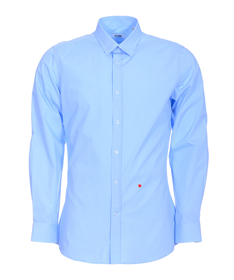 Sky stitched heart long sleeve shirt Sale - moschino