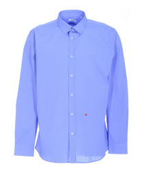 Blue striped & heart stitched shirt
