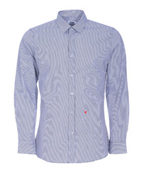 Grey striped & heart stitched shirt