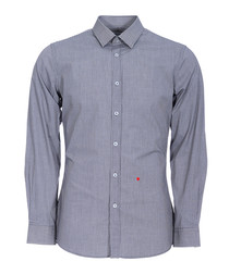 Grey check & heart stitched shirt
