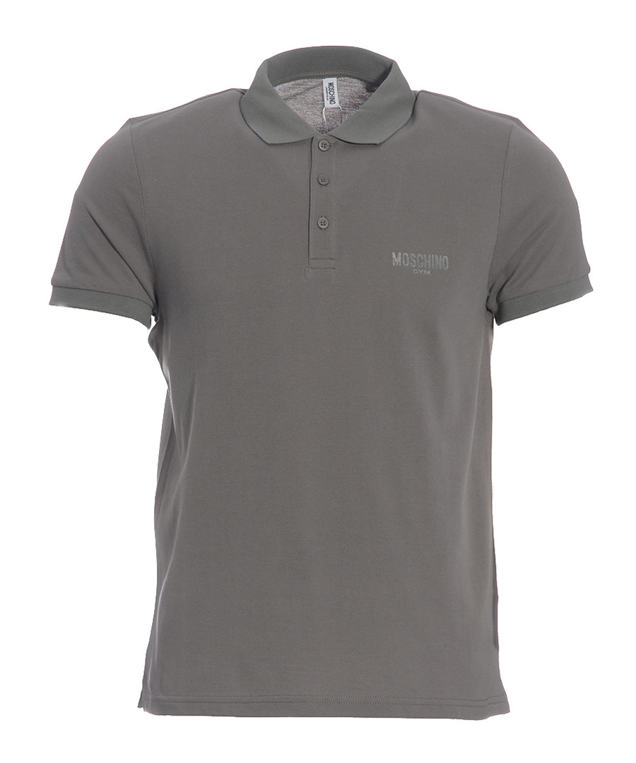 Grey pure cotton piqué polo shirt Sale - moschino