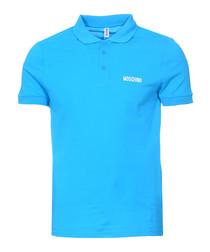 Sky pure cotton piqué polo shirt