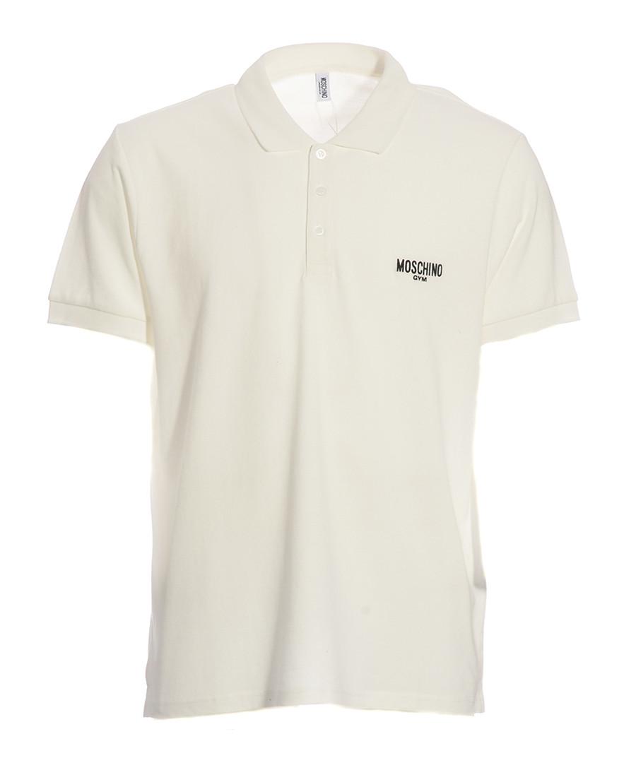 White pure cotton piqué polo shirt Sale - moschino