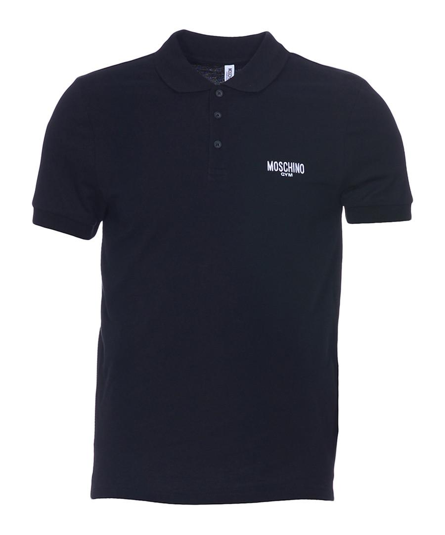 Black pure cotton piqué polo shirt Sale - moschino