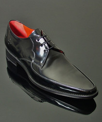 Apron Gibson black leather Derby shoes