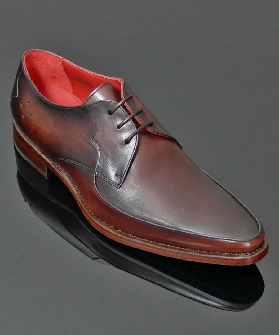 Apron Gibson brown leather Derby shoes Sale - Jeffery West