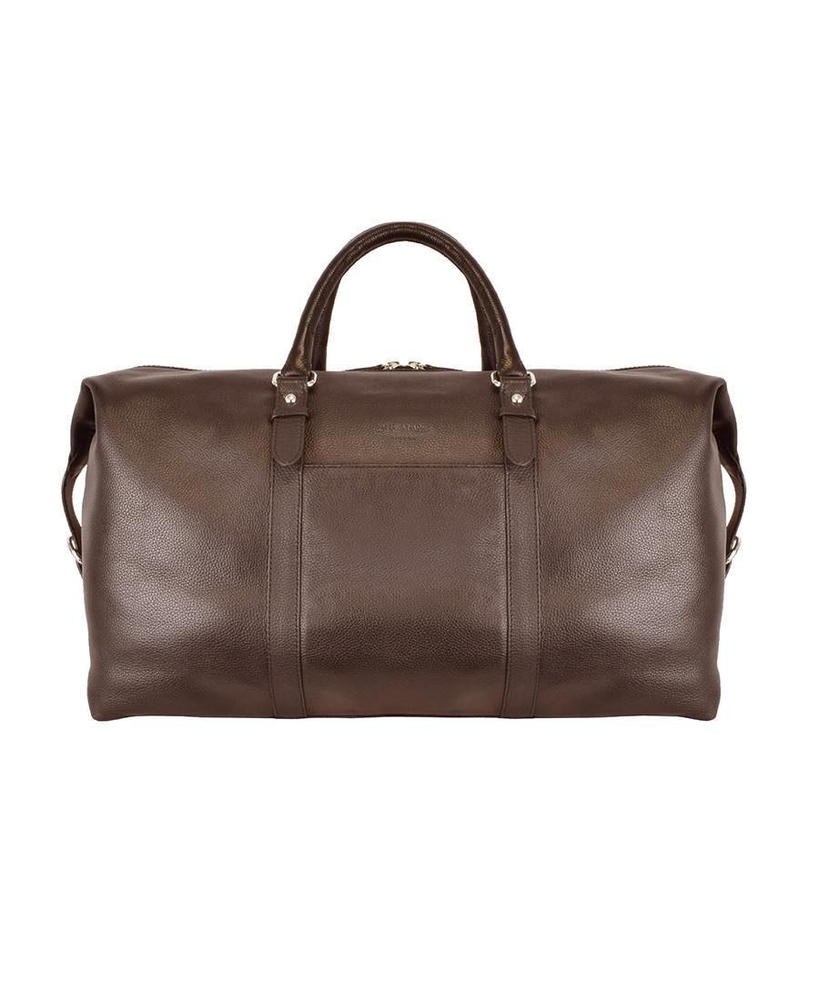bermuda large brown leather holdall Sale - duchamp