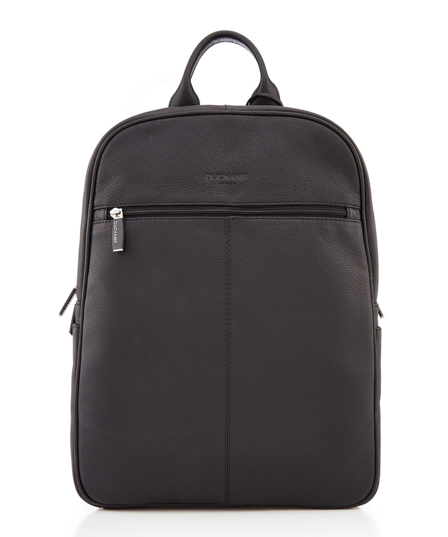 bermuda black pebble leather backpack Sale - DUCHAMP