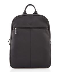 bermuda black pebble leather backpack