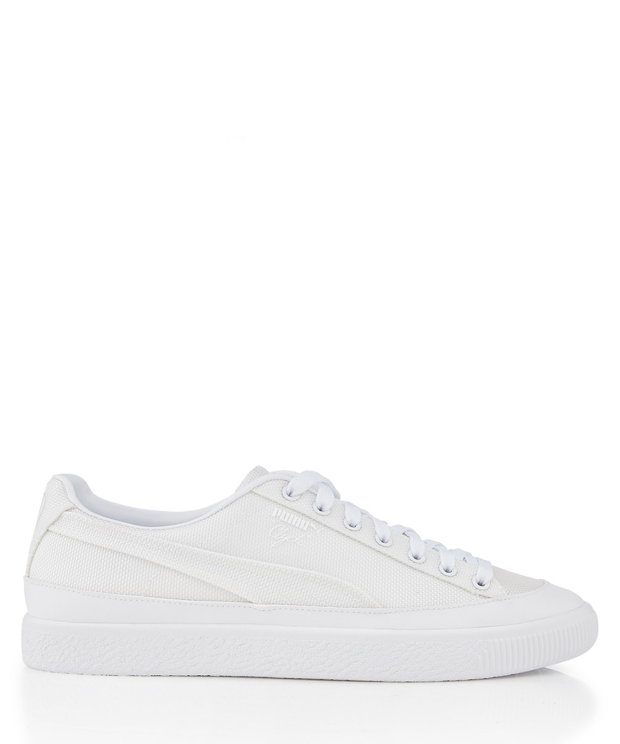Clyde Rubber Toe white leather sneakers Sale - puma