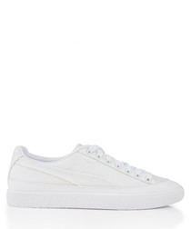 Clyde Rubber Toe white leather sneakers