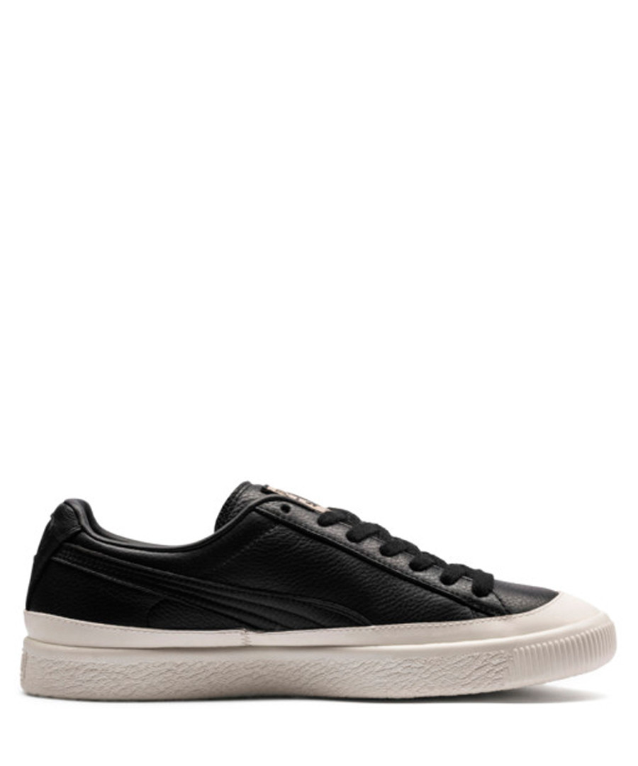Clyde Rubber Toe black leather sneakers Sale - puma