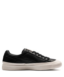 Clyde Rubber Toe black leather sneakers