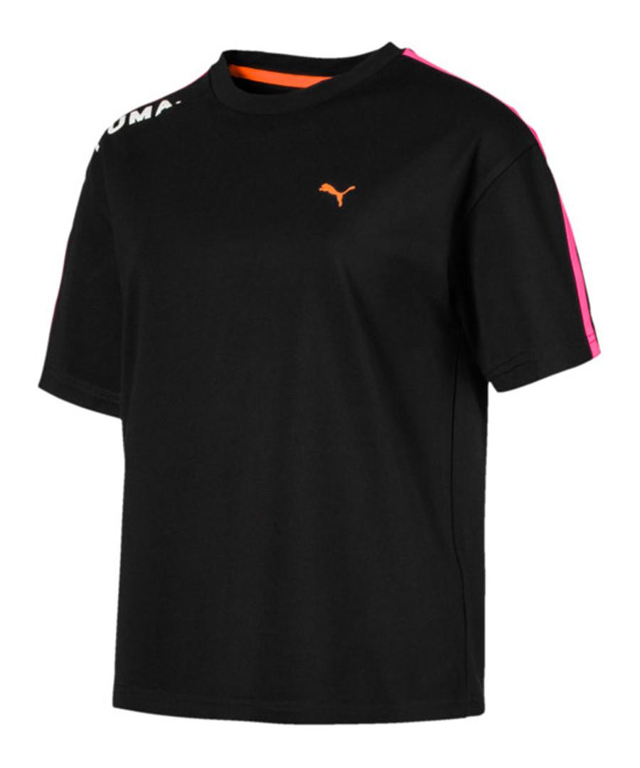 Chase black cotton blend T-shirt Sale - puma