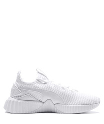 Women's Defy white knit sneakers