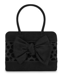 Dakota black polka dot bow grab bag