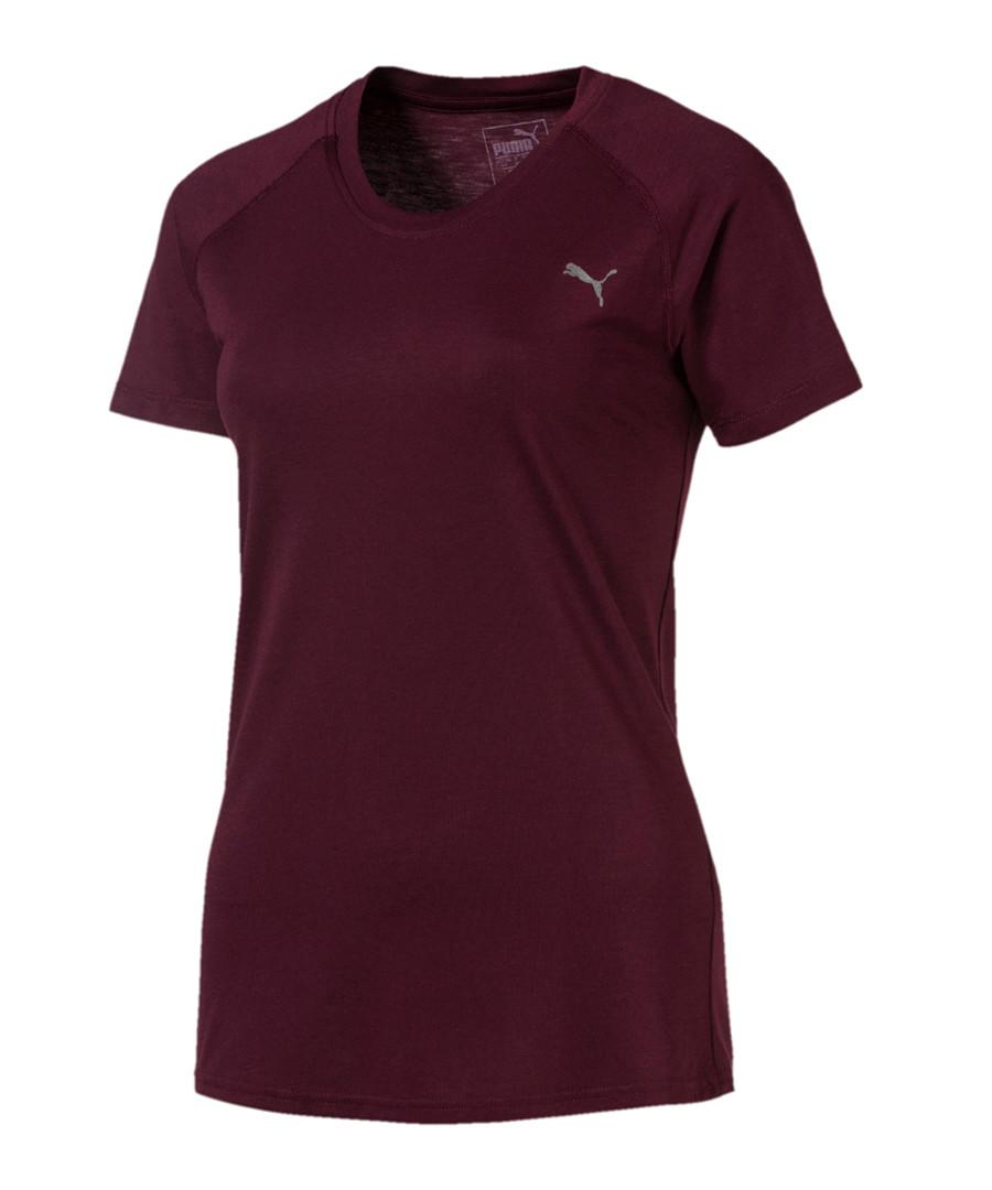 A.C.E. plum cotton blend active T-shirt Sale - puma