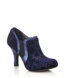 Juno navy heeled ankle boots